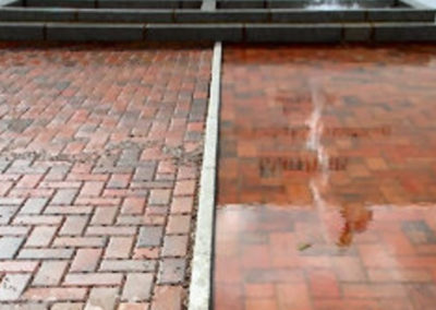 Good vs Bad Drainage on Paving